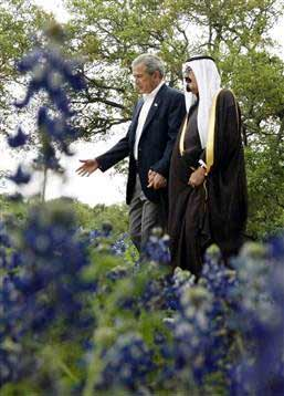 Demonstrating fealty to the Saudis