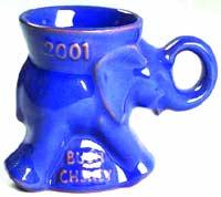 Blue campaign mug