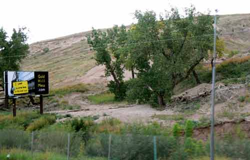 Mound of trailings undeveloped until now