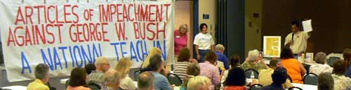 click here for more pictures of the COS Impeachment Teach-in