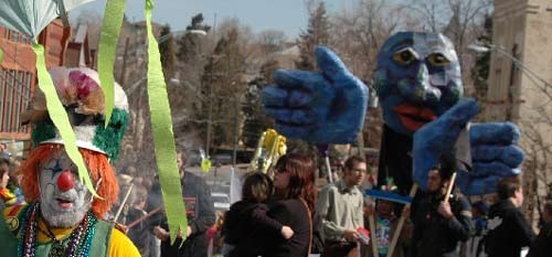Blue Lady in Manitou Carnivale