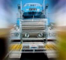 Truck bearing down