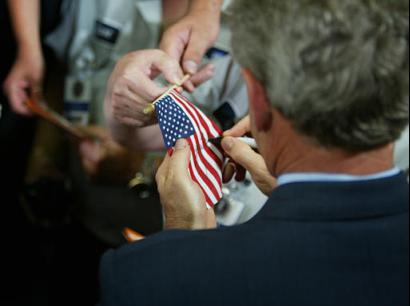autographing flags