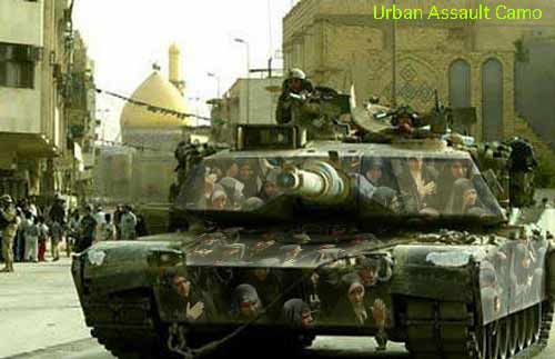 M1-A1 tank in new urban camouflage