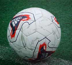 Soccer ball used in one game