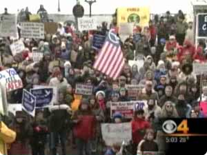 Click for Denver TV coverage of the rally