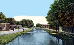 Antique postcard of Franklin Canal in El Paso Texas