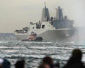 USS New York of World Trade Center steel