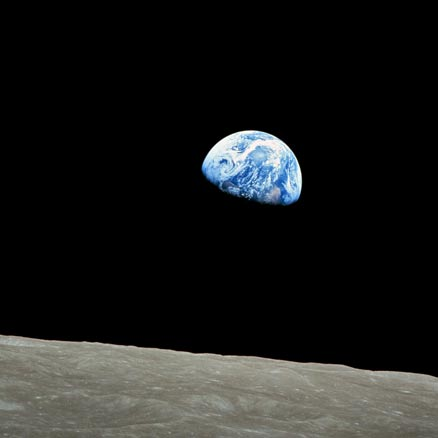 NASA Apollo 8 orbits the moon