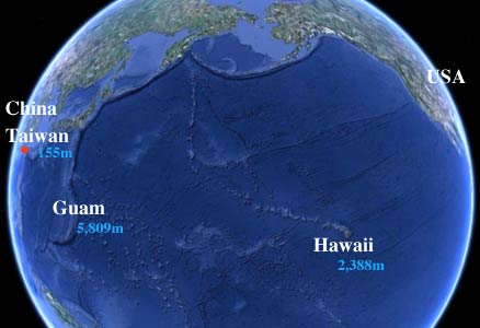 pacific usa hawaii guam taiwan china