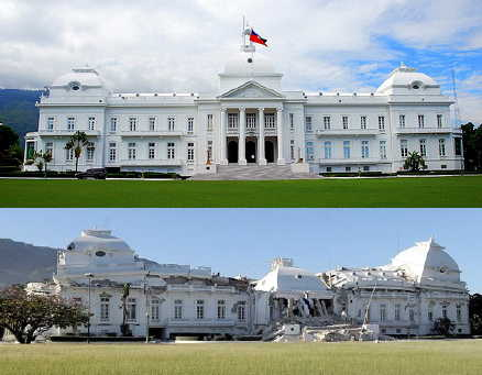Haiti presidential palace succumbs to earthquake