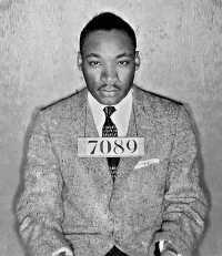 Martin Luther King Jr arrest mug shot