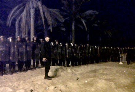 viva palestina riot police egypt