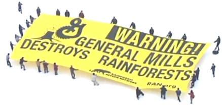 Rainforest Action Network aerial banner