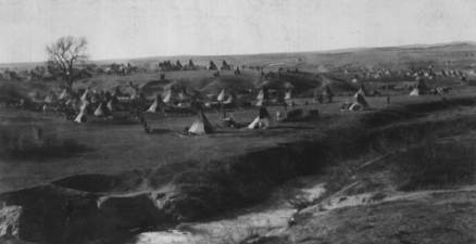 Native American encampment