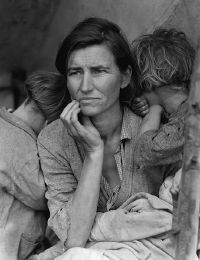 Depression era photograph by Dorothea Lange