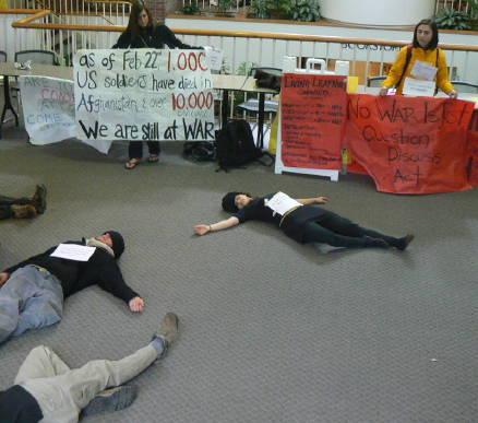 Die-in at Colorado College Worner Center