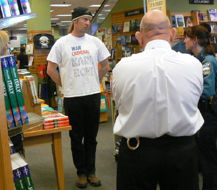 Karl Rove book signing at Borders April 18, 2010