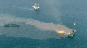 Oil drilling platform rig