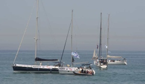 Israeli welcome flotilla