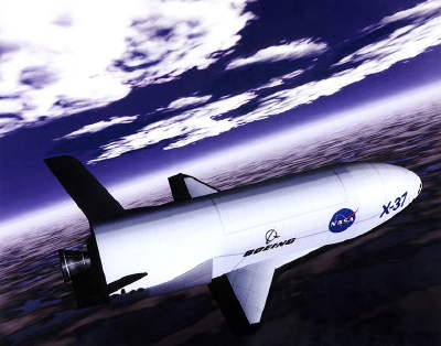 X-37B unmanned spacecraft drone mini-space shuttle