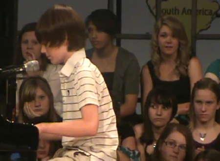 Chance Michael Grayson plays Cheyenne School 6th Grade show at Edmond, Oklahoma