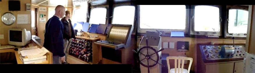 Bridge of 2010 Freedom Flotilla flagship MV Rachel Corrie
