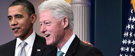Barack Obama and Bill Clinton steal from the poor to give to the rich