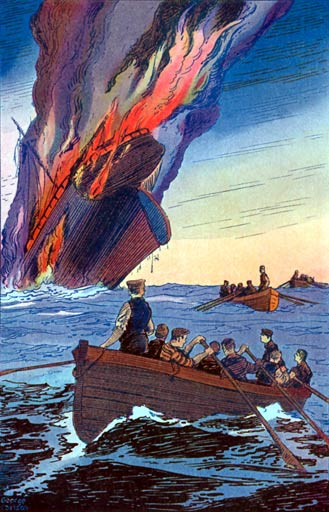 The sinking of the Judea