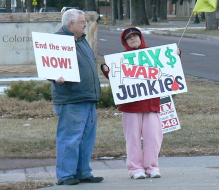 End the war now - Tax $ War Junkies