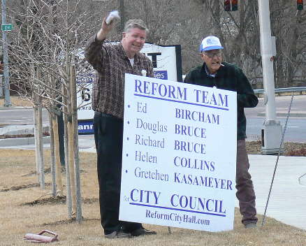 Campaign sign for Colorado Springs 2011 municipal election