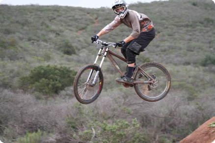 Jason Memmelaar rides in Garden of the Gods