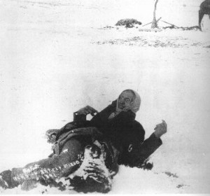 Chief Bigfoot, one of the first to be slaughtered by the 7th Cavalry at Wounded Knee.