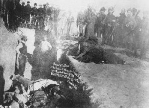 Italian laborers hired by the 7th Cavalry to dig the mass grave for the Indians slaughtered at Wounded Knee.