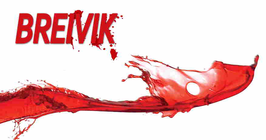 Nike Swoosh logo adapted for Dexter serial killer tv series, pattern for Oslo bomber Anders Behring Breivik
