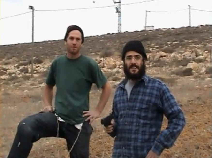 West Bank Settlers intimidating unarmed Palestinian farmers