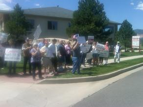 KOAA photo of alleged rally in support of Congressman Doug Lamborn