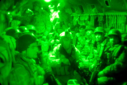 Chinook helicopter interior