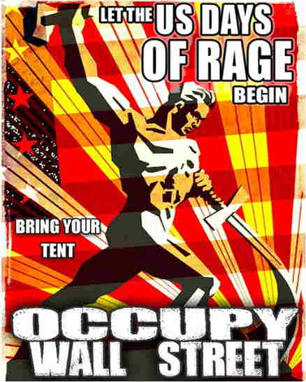 US Days of Rage, Occupy Wall Street, September 17, 2011, New York City