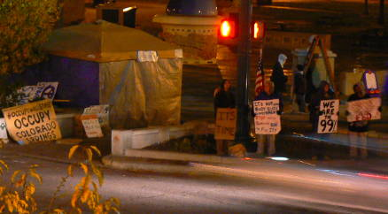 Occupy Colorado Springs in Acacia Park, October 25 at 7PM