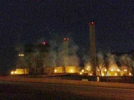 Colorado Springs DRAKE power plant as viewed from America the Beautiful Park