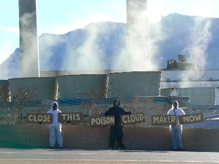 Protest of CSU Coal-fired power plant, January 2012