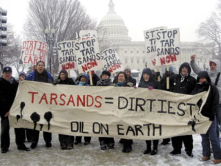 DC protest against TransCanada Tar Sands Keystone XL Pipeline