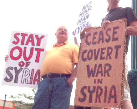STAY OUT OF SYRIA and CEASE COVERT WAR IN SYRIA