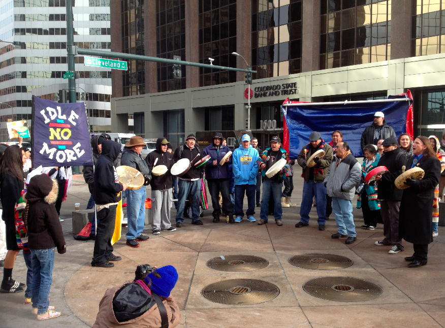 Idle No More Round Dance at Canadian Consulate in Denver