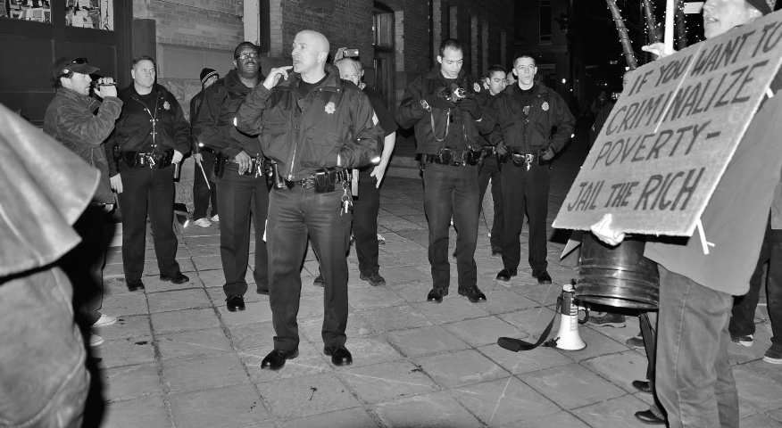 DPD interrupt Occupy Denver protest at the Tattered Cover Bookstore