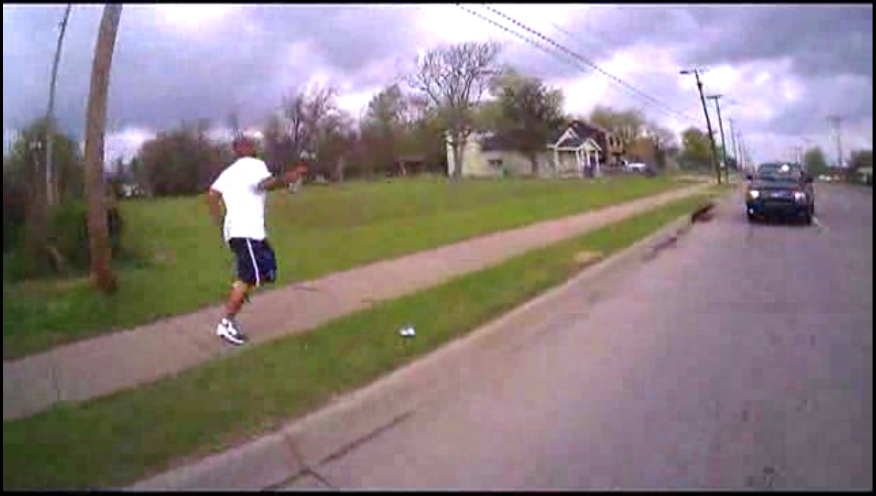 Eric Harris running from an undercover sting in Tulsa Oklahoma