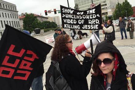 May 20 protest at Wellington Webb Building in Denver