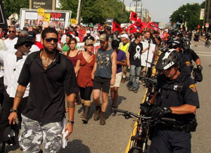 Cleveland RNC protest march