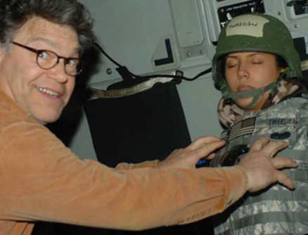 Gag photo from Al Franken USO tour